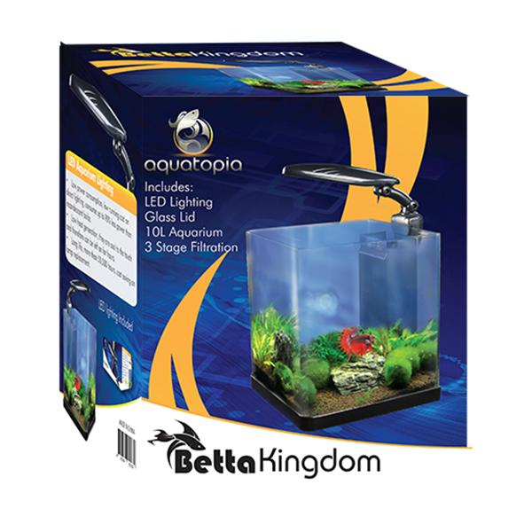 Betta kingdom incl light aquarium tanks single for Betta fish tank light