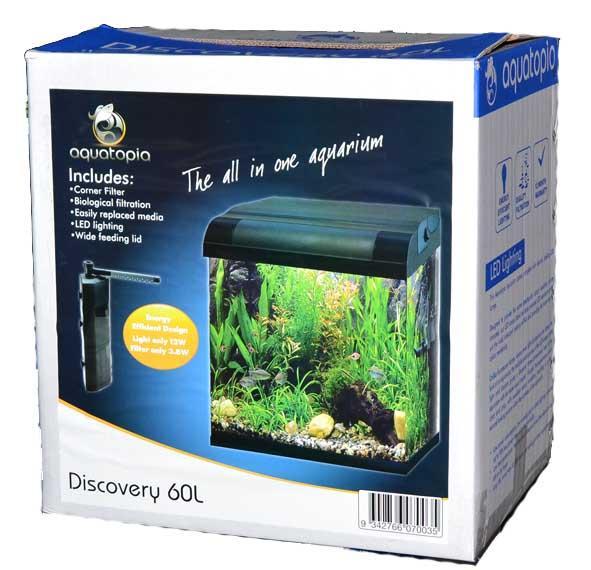discovery tank kit 60l aquarium tanks single aquatopia. Black Bedroom Furniture Sets. Home Design Ideas