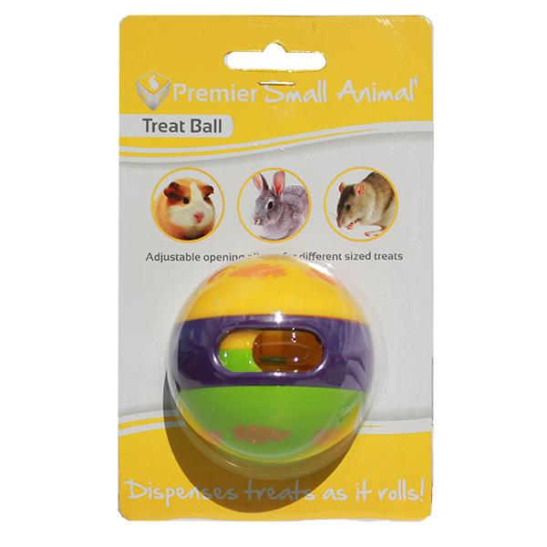 PLASTIC SMALL ANIMAL TREAT BALL 6CM - Click to enlarge