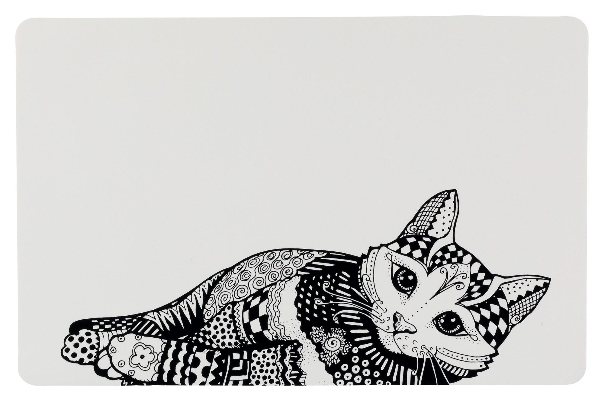 ZENTANGLE PLACE MAT 44X28CM WHITE/BLK - Click to enlarge