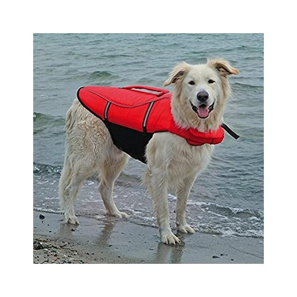 LIFE VEST FOR DOGS XS 26CM RED/BLACK - Click to enlarge