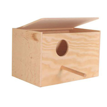 NESTING BOX WOOD COCKATIELS 30X20X20CM - Click to enlarge