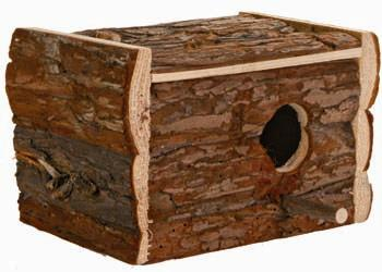 NESTING BOX NATURAL WOOD 21X13X12CM - Click to enlarge