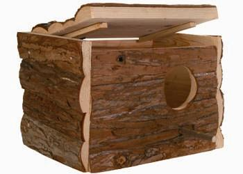 NESTING BOX NATURAL WOOD 30X20X20CM - Click to enlarge