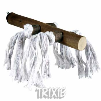 NATWOOD PERCH W COTTON ROPES 20CM 23MM - Click to enlarge