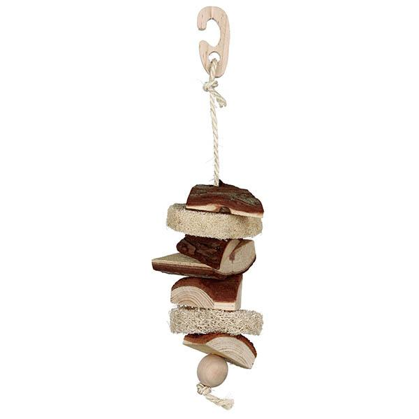 NATWOOD TOY WITH LUFFA/BELL 33CM - Click to enlarge