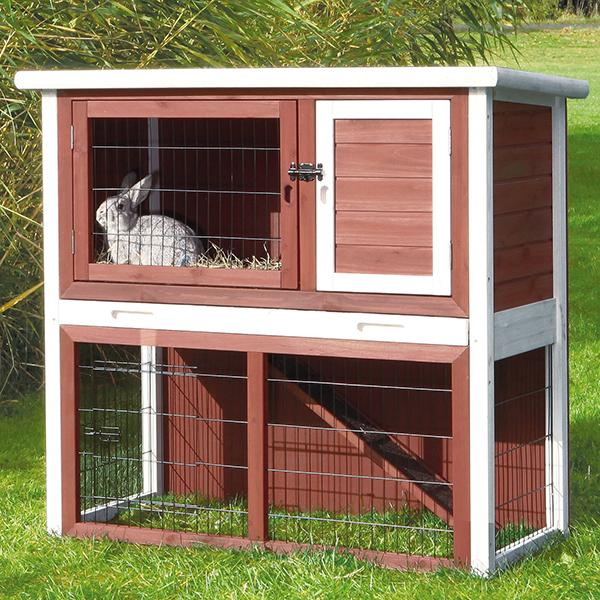 NATURA HUTCH W OUTDOOR RUN 104X97X52CM - Click to enlarge