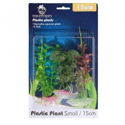 NATURAL PLASTIC PLANTS 3 PACK 15CM - Click for more info