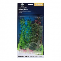 NATURAL PLASTIC PLANTS 3 PACK 20CM - Click for more info