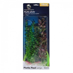 NATURAL PLASTIC PLANTS 3 PACK 30CM - Click for more info