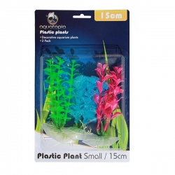 NEON PLASTIC PLANTS 3 PACK 15CM - Click for more info