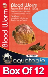 BLOOD WORMS 100G 32 CUBES - Click for more info