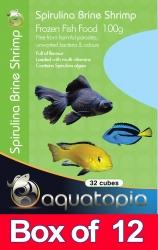 FROZEN SPIRULINA SHRIMP 100G BOX OF 12PK - Click for more info