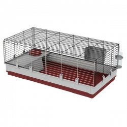 CAGE KROLIK X-LARGE BORDEAUX 120X60X50CM - Click for more info