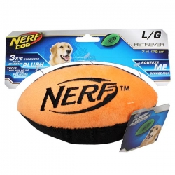 RETRIEVER PLUSH F/BALL LGE ORANGE 17.8CM - Click for more info