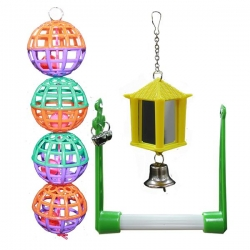 BIRD TOY 3 PK SWING BALLS MIRROR LANTERN - Click for more info