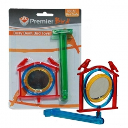 BIRD TOY  PERCH TOY SPINNING MIRROR - Click for more info