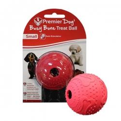 BUSY BONE MAZE TREAT BALL SMALL RED - Click for more info