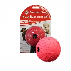 BUSY BONE MAZE TREAT BALL LARGE RED - Click for more info