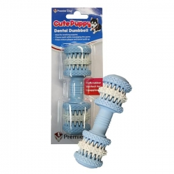 CUTE PUPPY DENTAL DUMBBELL (BLUE/WHITE) - Click for more info