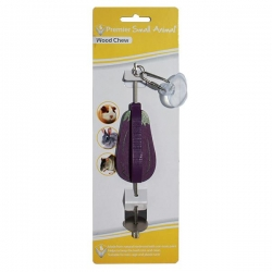 WOOD CHEW SKEWER 8CM EGGPLANT - Click for more info