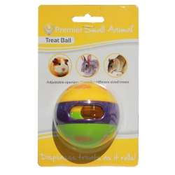 PLASTIC SMALL ANIMAL TREAT BALL 6CM - Click for more info