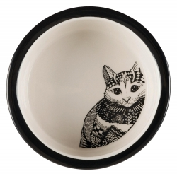 ZENTANGLE CERAMIC BOWL 0.3L 12CM WHT/BLK - Click for more info