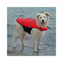 LIFE VEST FOR DOGS XS 26CM RED/BLACK - Click for more info