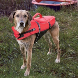 LIFE VEST FOR DOGS XL 65CM RED/BLACK - Click for more info