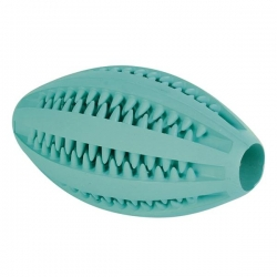 DENTAFUN RUGBYBALL MINT NAT RUBBER 11CM - Click for more info