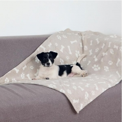 KENNY BLANKET 100X150CM BEIGE - Click for more info