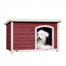 NATURA FLAT ROOF KENNEL 85X58X60CM AB/WH - Click for more info