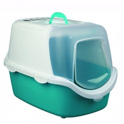 VICO LITTER TRAY 40X40X56CM AQ/WH - Click for more info
