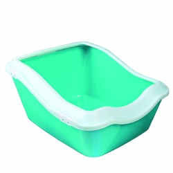 CLEANY CAT LITTER TRAY W RIM 45X21X54CM - Click for more info