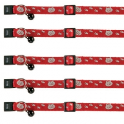 CAT COLLAR MOTIF REFLECTIVE NYLON - Click for more info