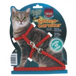 CAT SET WITH LEAD REFLECTING NYLON - Click for more info