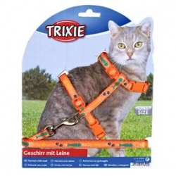CAT HARNESS W LEAD MOTIF2236CM/10MM1.2M - Click for more info