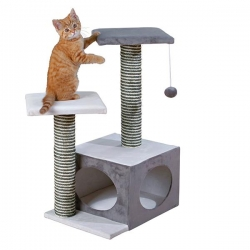 NEO SCRATCHING POST 71CM CREAM/GREY - Click for more info