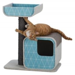 ALONDRA SCRATCH POST 72CM GREY/AQUAMARIN - Click for more info