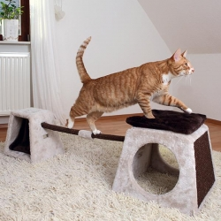 CAT ACT BALANCE SET 175X35X40CM GRY/BR - Click for more info