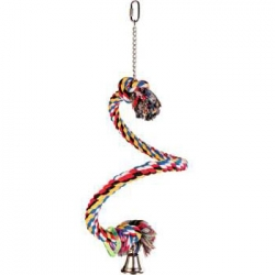 PLAYING SPIRAL PERCH COTTON W BELL 50CM - Click for more info