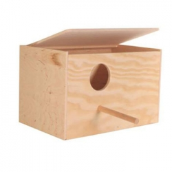 NESTING BOX WOOD COCKATIELS 30X20X20CM - Click for more info