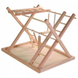 WOODEN BIRD PLAYGROUND LGE 36X26X29CM - Click for more info