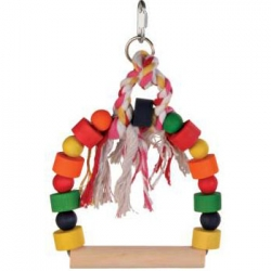 BOWED SWING W WOOD COL BLOCKS 13X19CM - Click for more info