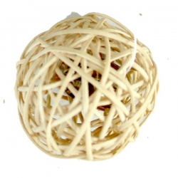 WICKER BALL WITH BELL  4CM - Click for more info