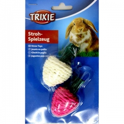 STRAW RADISHES FOR SMALL ANIMAL 8CM 2 PC - Click for more info