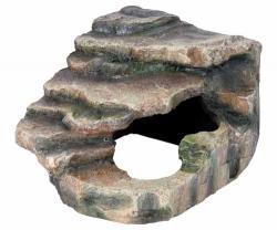 CORNER ROCK W/CAVE/PLATFORM16X12X15CM - Click for more info