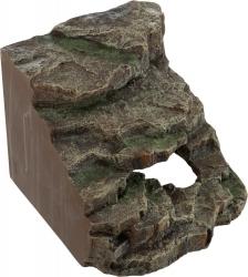 CORNER ROCK W/CAVE/PLATFORM 19X17X17CM - Click for more info
