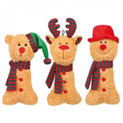 ASST SNOWMEN, REINDEER AND BEAR 27CM - Click for more info