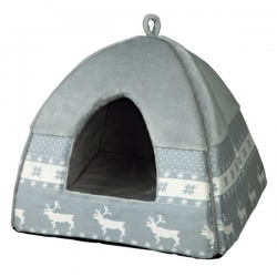NOELIA CUDDLY CAVE 38X35X38CM GREY - Click for more info